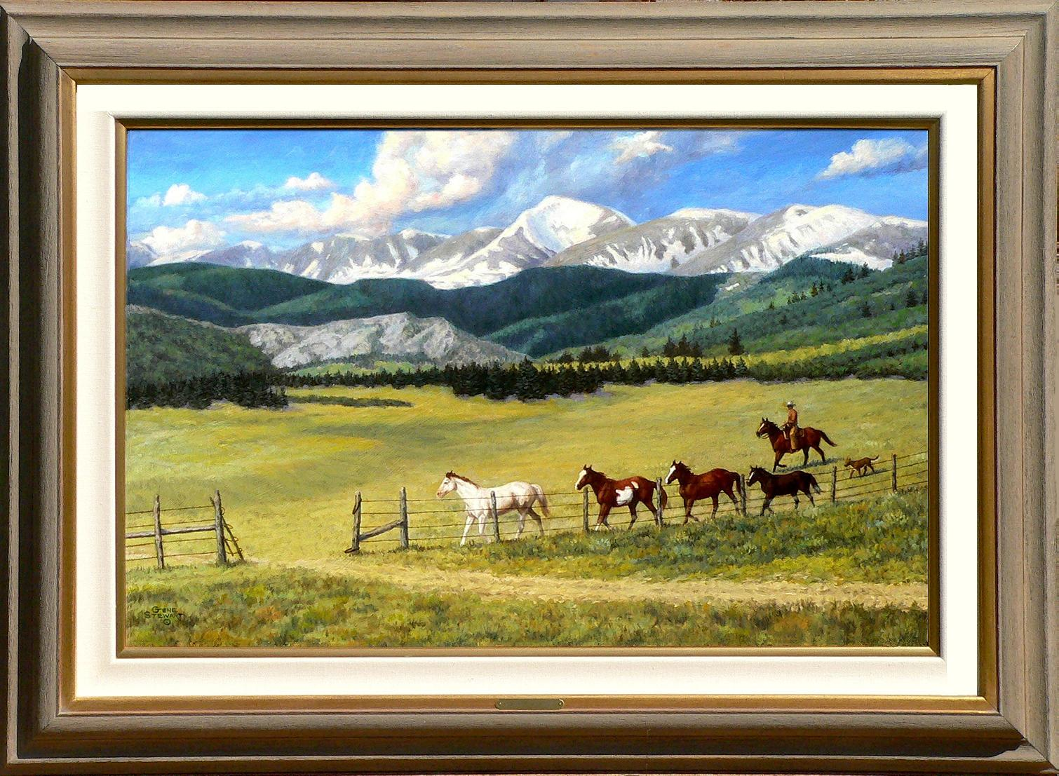 """Changing Pastures"" oil painting"